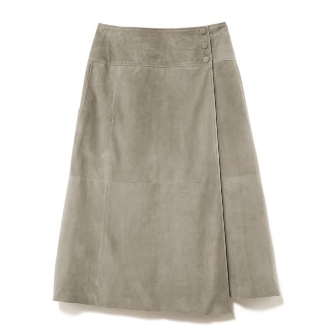 ゴートスエード ラップスカート
