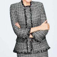 マリア・ケント社 モノトーン ツイード ジャケット