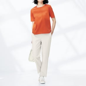 (股下丈60cm) ボディシェルドライ(R)混 サイドスリット パンツ 写真