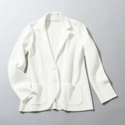 鹿の子編み ニットジャケット