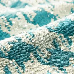 イタリア素材 スパンコール糸使い 千鳥ジャカード ワンピース 生地アップ