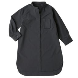 (L-LL) コットン混 チビスタンドシャツ(大きいサイズ) ※今回こちらのお色の販売はございません。参考画像です。