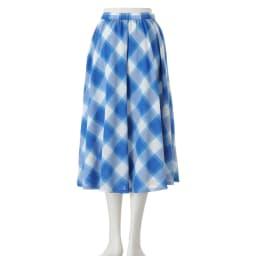 フランス素材 バイアスチェック フレアスカート