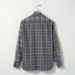 クレイジーチェックフランネルシャツ Back Style