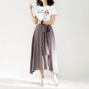 SO SOON/ソースーン ストライプスカート 写真