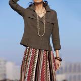 ベルギー素材 リネン ショートジャケット 写真