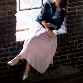 エアリーコットン タックフレアスカート 写真