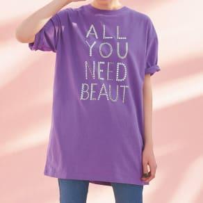 アートプリントビッグTシャツ 写真