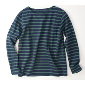 度詰めボーダーTシャツ(日本製) 写真
