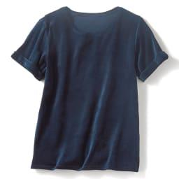 大人のシルク混 ベロアTシャツ