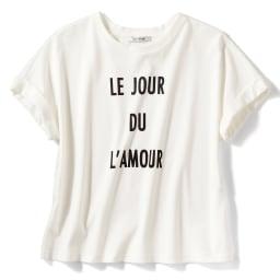 超長綿ボックス ロゴTシャツ