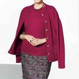 マリア・ケント社 リボンツイード スカート【2点以上で10%OFF】 コーディネート例