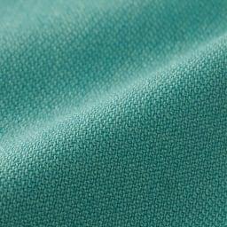 (股下丈63cm) 裾ダブル クロップドパンツ (イ)ピーコックグリーン 生地アップ