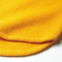 カシミヤ ローゲージニット クルーネック プルオーバー 裾