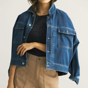 gram blue/グラムブルー オーバーサイズ デニムジャケット 写真