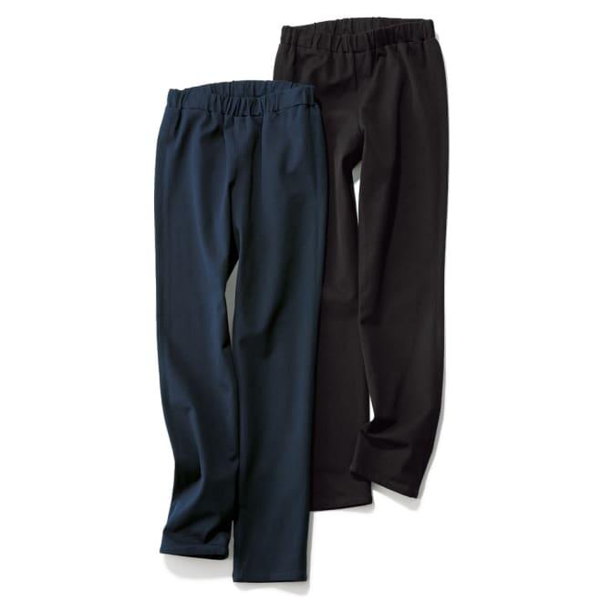 2ウェイストレッチ レギンスチノ風パンツ【2点以上で10%OFF】 左から(ア)ダークネイビー (イ)ブラック