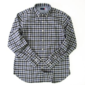 SCENE(R)/シーン 7DAYSジャパンメイドシャツシリーズ ツイルグレーチェック 写真