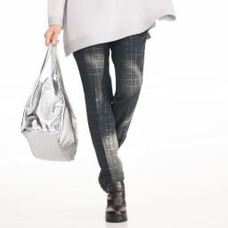 (股下丈68cm) イタリア素材 ラメ チェック パンツ ※今回こちらのお色の販売はございません。参考画像です。