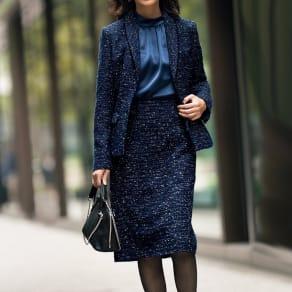 マリア・ケント社 ラメツイード スカート【2点以上で10%OFF】 写真