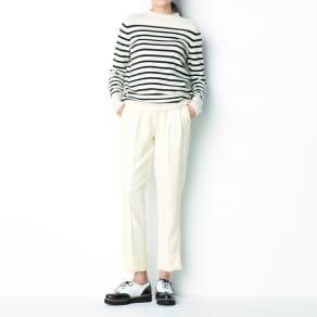 ウールツイル 裾ダブル タックテーパードパンツ【2点以上で10%OFF】 写真