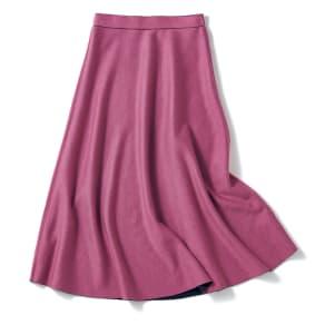 ダブルフェイス リバーシブル ニットスカート 写真