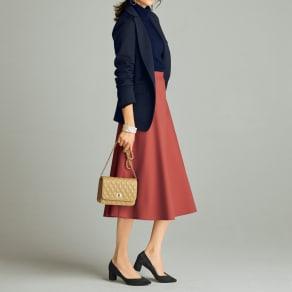 リバーシブルボンディング フレアスカート 写真