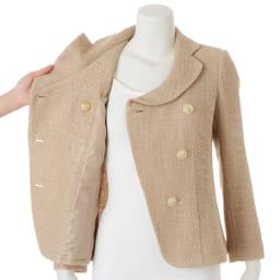 Faliero Sarti/ファリエロ サルティ スラブヤーン からみ織り ジャケット ※インナーは含まれません。