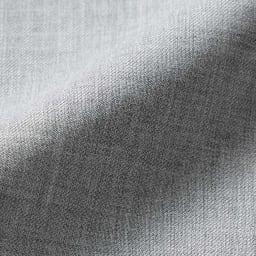 (股下丈68cm) ウール混 ストレッチ セミワイドパンツ (イ)グレー 生地アップ