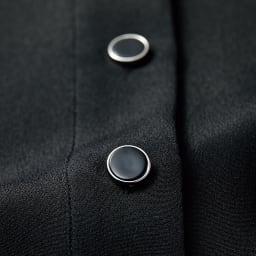 シルクデシン シャツデザイン ワンピース ボタン部分