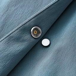 撥水加工 ドットボタン リボンベルト付き コート メタルのドットボタン