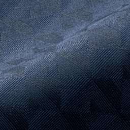 (股下丈68cm)チェルッティ社 九分丈 テーパードパンツ (ア)ネイビー×ブラック 生地アップ