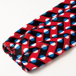 baxter fawcett/バクスター フォーセット 幾何学柄プリント ワンピース 袖口