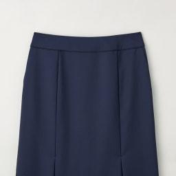 ウール混 ドビー タックデザイン スカート ウエスト部分