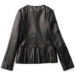 ラムレザー ペプラムデザイン ジャケット(サイズ9) BACK