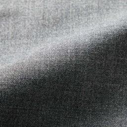 (股下丈70cm)ウール混 サキソニー ストレートパンツ (イ)チャコールグレー 生地アップ