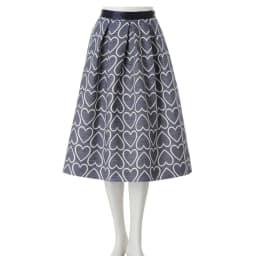 フランス素材 ハートジャカードスカート