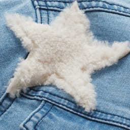 ボア使い星ワッペン デニムジャケット