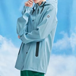 TANTA/タンタ ゴム引きはっ水 レインジャケット コーディネート例 ※今回こちらのお色の販売はございません。