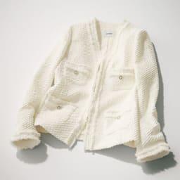 イタリア製生地 ツイーディージャカード ジャケット