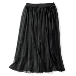 イタリア製生地 ジャカードスカート(チュールスカート付き) 3WAY