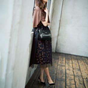 イタリア製生地 ジャカードスカート(チュールスカート付き) 写真