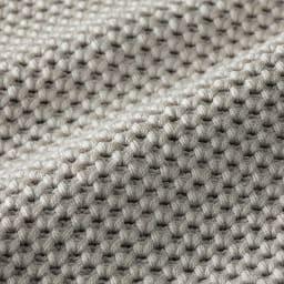 コットンシルク 鹿の子編み テーラードジャケット(サイズ3L) 生地アップ