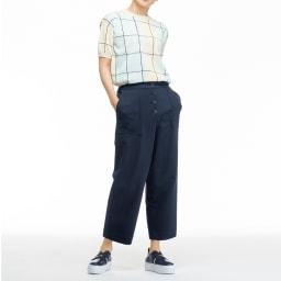 (股下丈58cm)ボタンデザイン ジャージー パンツ ※今回こちらのお色の販売はございません。参考画像です。