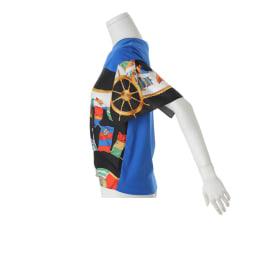スカーフプリント結び プルオーバー