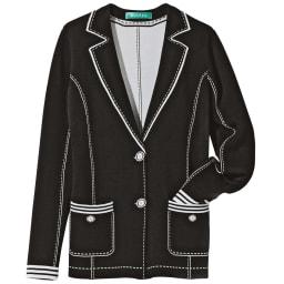 トロンプルイユ(だまし絵) ニットジャケット