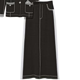 トロンプルイユ(だまし絵) ニットロングスカート コーディネート例
