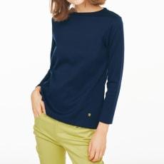 超長綿スビンギザコットン ワイドリブ長袖Tシャツ(サイズS)