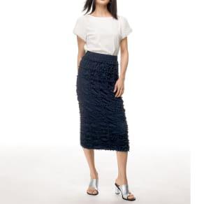 有松絞り Iライン スカート(サイズ1) 写真