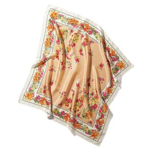 シルクツイル フラワープリント スカーフ 写真