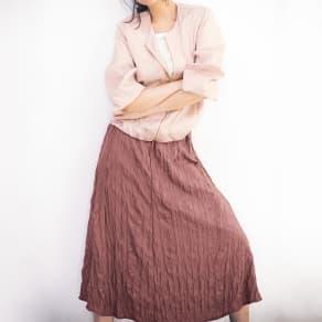 ランダムプリーツ Aラインスカート 【2点以上で10%OFF】 写真